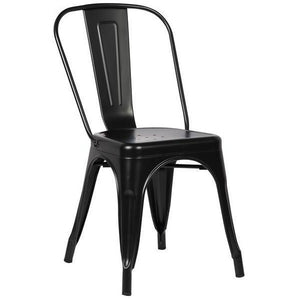 Edgemod Modern Trattoria Side Chair (Set of 2) Black, Dining Chairs - Edgemod Furniture, Minimal & Modern - 1
