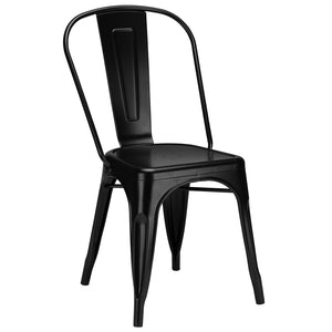 Lanna Furniture Siam Side Chair (Set of 2)-Minimal & Modern