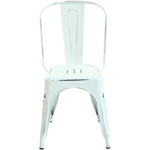 Edgemod Modern Trattoria Side Chair (Set of 2) Distressed White, Dining Chairs - Edgemod Furniture, Minimal & Modern - 6