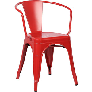 Lanna Furniture Suthep Arm Chair (Set of 2) Red, Dining Chairs - Lanna Furniture, Minimal & Modern - 1