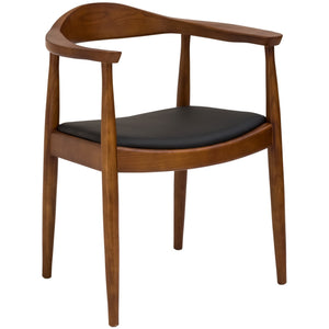 Lanna Furniture Royal Arm Chair Walnut, Dining Chairs - Lanna Furniture, Minimal & Modern - 1