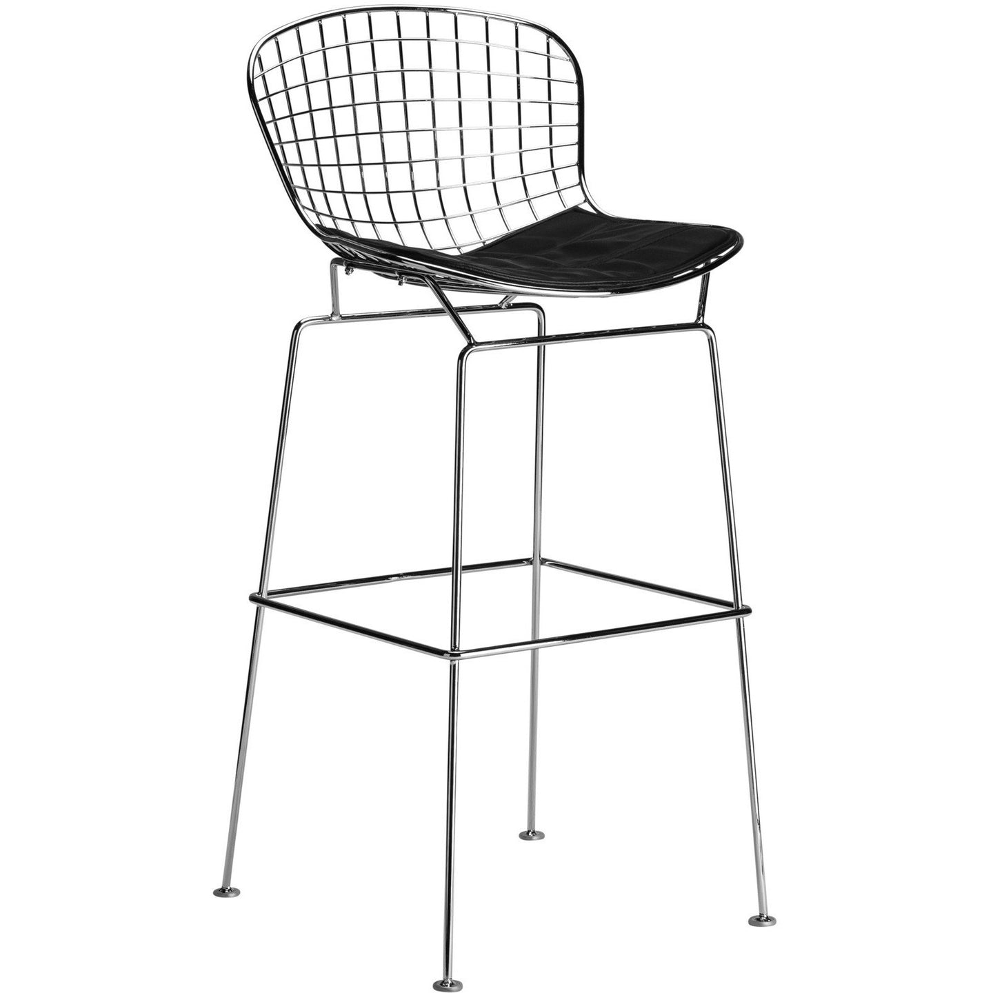 Lanna Furniture Pai Bar Stool Black, Bar Stools - Lanna Furniture, Minimal & Modern - 1