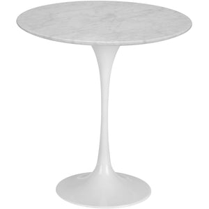 "Lanna Furniture Daisy 20"" Marble Side Table-Minimal & Modern"