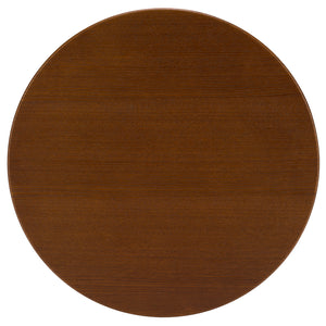 "Lanna Furniture Daisy 20"" Walnut Top Side Table-Minimal & Modern"