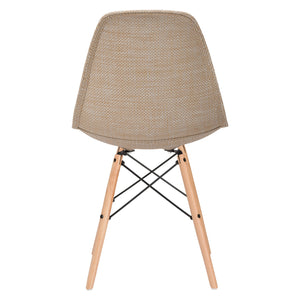 Lanna Furniture Woven Belo Dining Chair with Natural Legs-Minimal & Modern