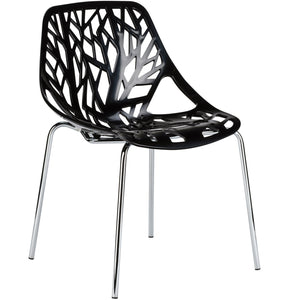 Lanna Furniture Colonia Dining Side Chair-Minimal & Modern