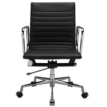 Lanna Furniture Estey Mid Back Office Chair with Italian Leather , Office Chairs - Lanna Furniture, Minimal & Modern - 2
