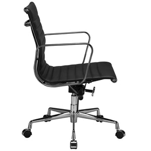 Lanna Furniture Estey Mid Back Office Chair with Italian Leather , Office Chairs - Lanna Furniture, Minimal & Modern - 3
