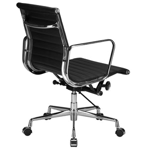 Lanna Furniture Estey Mid Back Office Chair with Italian Leather , Office Chairs - Lanna Furniture, Minimal & Modern - 4