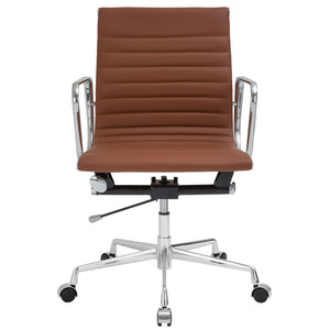 Lanna Furniture Estey Mid Back Office Chair with Italian Leather , Office Chairs - Lanna Furniture, Minimal & Modern - 13