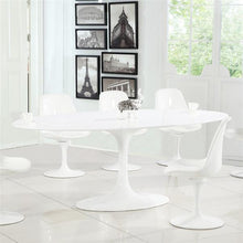 "Edgemod Modern Daisy 78"" Oval Fiberglass Dining Table in White , Dining Tables - Edgemod Furniture, Minimal & Modern - 3"