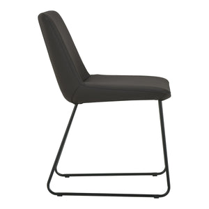 Moe's Home Collection Villa Dining Chair Black-Set of Two - EQ-1010-02