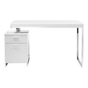 Moe's Home Collection Martos Desk White - ER-1075-18 - Moe's Home Collection - Desks - Minimal And Modern - 1