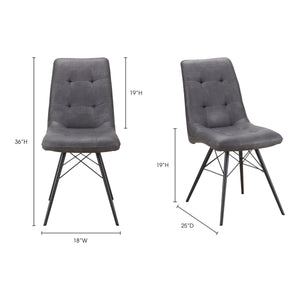 Moe's Home Collection Morrison Side Chair-Set of Two - ER-2029-15