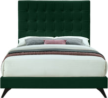 Meridian Furniture Elly Green Velvet Queen Bed