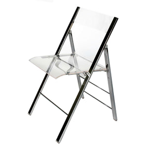 Baxton Studio Acrylic Foldable Chair (Set of 2) Baxton Studio-office chairs-Minimal And Modern - 1