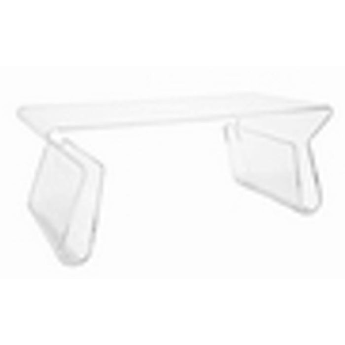 Baxton Studio Acrylic Coffee Table with Magazine Rack  Baxton Studio-coffee tables-Minimal And Modern - 1