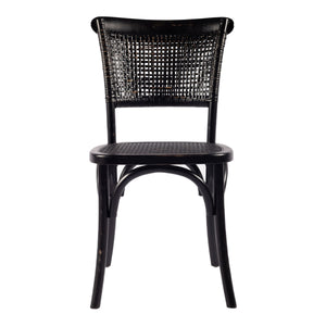 Moe's Home Collection Churchill Dining Chair Antique Black-Set of Two - FG-1001-02 - Moe's Home Collection - Dining Chairs - Minimal And Modern - 1