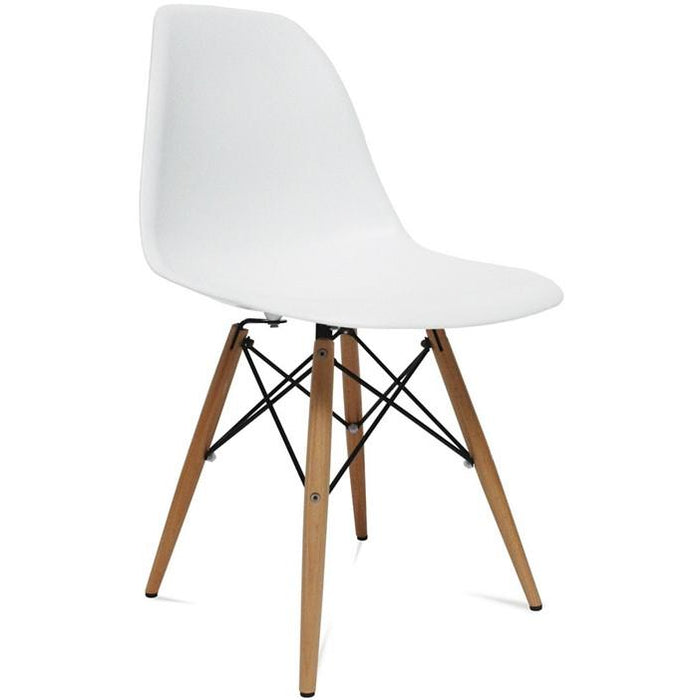 Finemod Imports Modern Woodleg Dining Side Chair FMI2012-white-Minimal & Modern