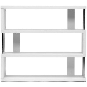 Baxton Studio Barnes White Three-Shelf Modern Bookcase  Baxton Studio--Minimal And Modern - 1