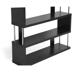 Baxton Studio Barnes Dark Brown Three-Shelf Modern Bookcase  Baxton Studio--Minimal And Modern - 2