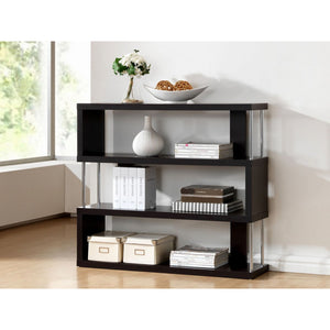 Baxton Studio Barnes Dark Brown Three-Shelf Modern Bookcase  Baxton Studio--Minimal And Modern - 3