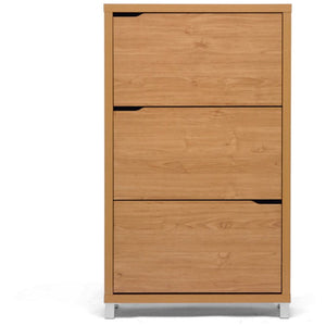 Baxton Studio Simms Maple Modern Shoe Cabinet Baxton Studio--Minimal And Modern - 2