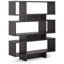 Baxton Studio Cassidy 6-Level Dark Brown Modern Bookshelf Baxton Studio--Minimal And Modern - 2