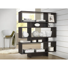 Baxton Studio Cassidy 6-Level Dark Brown Modern Bookshelf Baxton Studio--Minimal And Modern - 3
