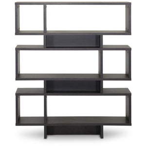 Baxton Studio Cassidy 6-Level Dark Brown Modern Bookshelf Baxton Studio--Minimal And Modern - 1