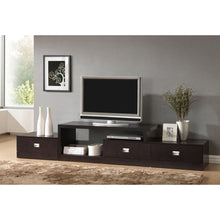 Baxton Studio Marconi Brown Asymmetrical Modern TV Stand Baxton Studio-TV Stands-Minimal And Modern - 2