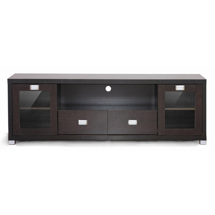Baxton Studio Gosford Brown Wood Modern TV Stand Baxton Studio-TV Stands-Minimal And Modern - 1