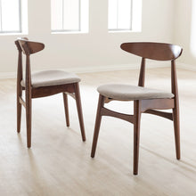 "Baxton Studio Flora Mid-Century Modern Light Grey Fabric and ""Oak"" Medium Brown Finishing Wood Dining Chair Baxton Studio-dining chair-Minimal And Modern - 5"