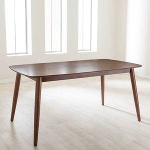 "Baxton Studio Flora Mid-Century Modern ""Oak"" Medium Brown Finishing Wood Dining Table Baxton Studio-dining table-Minimal And Modern - 6"