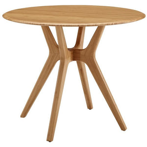 "Greenington Sitka 36"" Round Dining Table, Caramelized-Minimal & Modern"