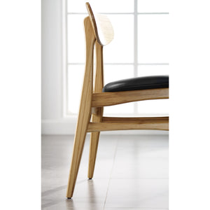 Greenington Cassia Dining Chair With Leather Seat, Caramelized, (Set of 2)-Minimal & Modern