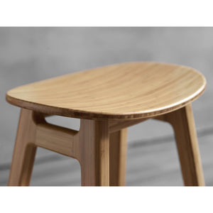 Greenington Modern Bamboo Skol Bar Height Stool, Caramelized or Exotic (set of 2)-Minimal & Modern