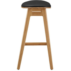 "Greenington Skol 30"" Bar Height Stool With Leather Seat, Caramelized, (Set of 2)-Minimal & Modern"