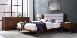 Greenington Mercury Modern Bamboo Upholstered Queen Bed, Exotic - GM001E-Minimal & Modern