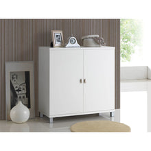 Baxton Studio Marcy Modern and Contemporary White Wood Entryway Handbags or School Bags Storage Sideboard Cabinet Baxton Studio--Minimal And Modern - 5