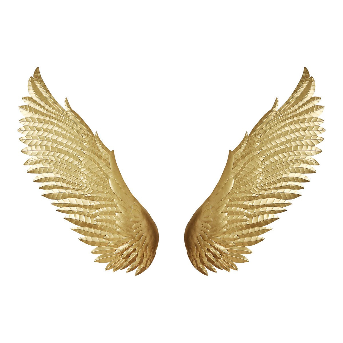 Moe's Home Collection Wings Wall Décor Gold - HZ-1023-32 - Moe's Home Collection - Art - Minimal And Modern - 1