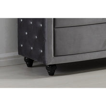 Meridian Furniture Hudson Grey Velvet Chest-Minimal & Modern