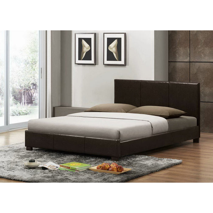 Baxton Studio Pless Dark Brown Modern Bed - Full Size Baxton Studio-beds-Minimal And Modern - 1