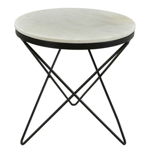 Moe's Home Collection Haley Side Table Black Base - IK-1001-02
