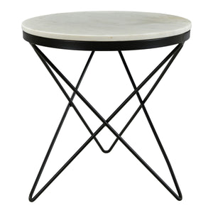 Moe's Home Collection Haley Side Table Black Base - IK-1001-02 - Moe's Home Collection - End Tables - Minimal And Modern - 1
