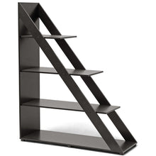 Baxton Studio Psinta Dark Brown Modern Shelving Unit Baxton Studio--Minimal And Modern - 1