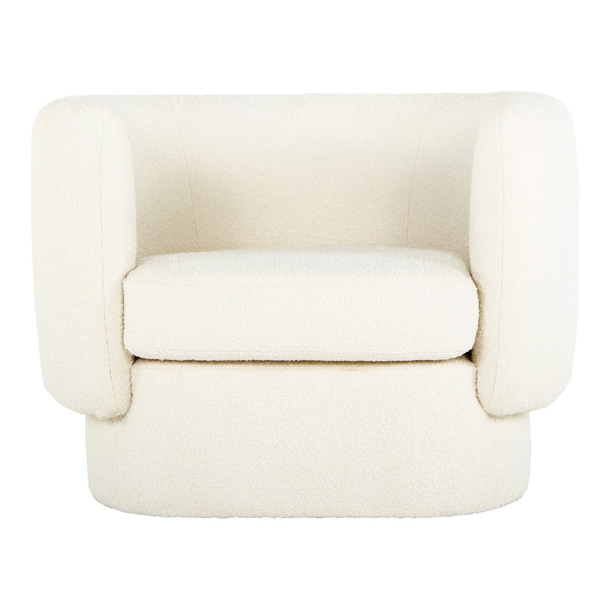 Moe's Home Collection Koba Chair Maya White - JM-1002-18 - Moe's Home Collection - lounge chairs - Minimal And Modern - 1