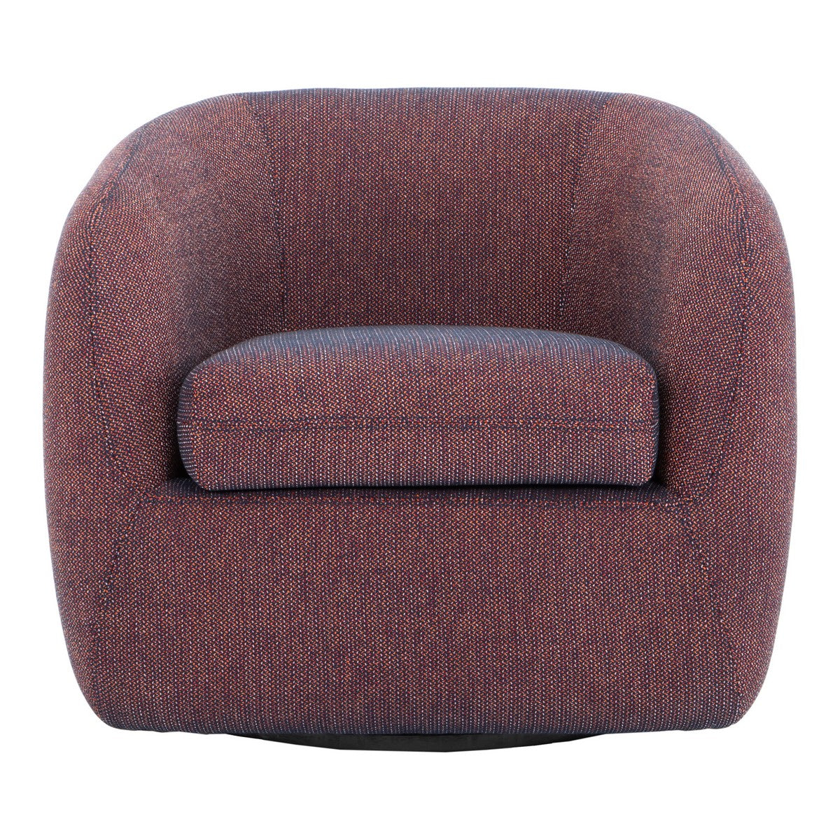 Moe's Home Collection Maurice Swivel Chair Rosa Orange - JM-1003-12 - Moe's Home Collection - lounge chairs - Minimal And Modern - 1