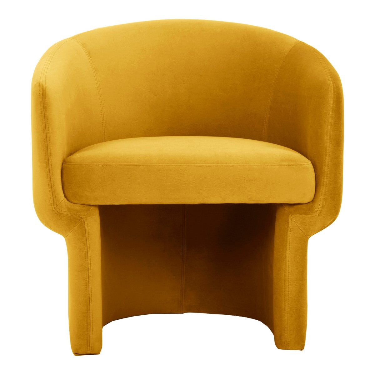 Moe's Home Collection Franco Chair Mustard - JM-1005-09 - Moe's Home Collection - lounge chairs - Minimal And Modern - 1