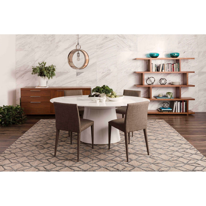 MOE'S HOME COLLECTION OTAGO OVAL DINING TABLE WHITE - KC-1007-18-Minimal & Modern